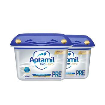 Aptamil【2件装】德国爱他美白金版婴幼儿奶粉Pre段(适合0-6个月)800克/罐