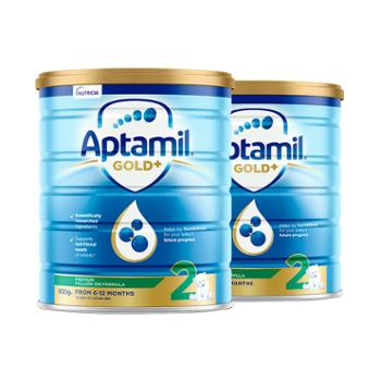 Aptamil【2件装】澳洲爱他美婴幼儿奶粉金装2段900克/罐