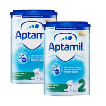 【两罐装】英国爱他美Aptamil婴幼儿奶粉2段(适用6-12个月)800克/罐