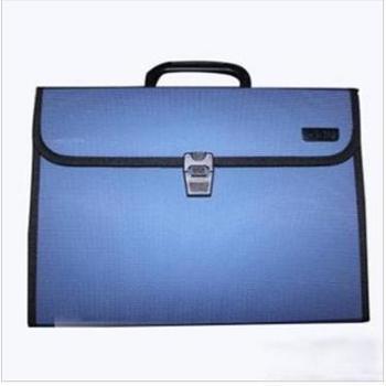 得力deli5555A4风琴包捆边手提式文件包事务包100%进口环保PP原料平整不变形1个