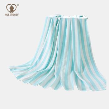 AUSTTBABY竹纤维婴儿盖毯午睡毯空调盖毯柔软棉质舒适抱巾抱被
