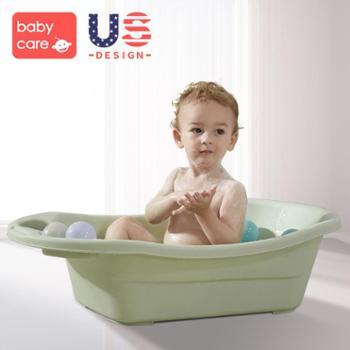 babycare婴儿洗澡盆可坐躺新生幼儿宝宝沐浴盆网兜儿童小孩浴盆
