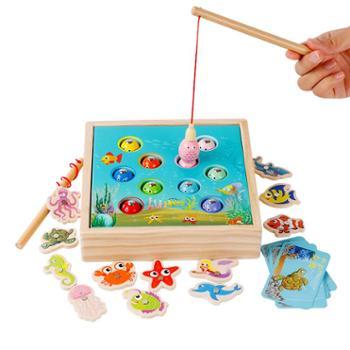儿童蒙氏早教益智1-2-3一岁女宝宝钓鱼玩具男孩磁性套装蒙特梭利