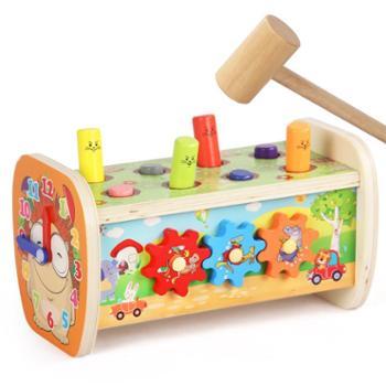 打地鼠敲打游戏幼儿益智儿童女宝宝男孩玩具智力开发1-2-3一4周岁