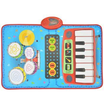 ZIPPY MAT儿童宝宝爵士架子鼓电子琴钢琴毯早教益智音乐女孩男孩玩具初学者