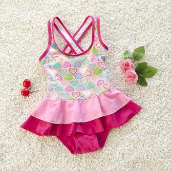 家家乐 7女童泳衣小童婴幼儿1-2-3-4-5-6岁女宝宝温泉泳衣可爱儿童小女孩