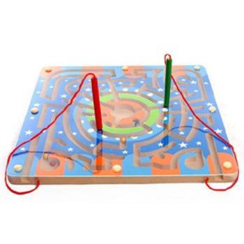 MWZ/木丸子磁性环形迷宫木质木制早教益智力儿童走珠走球玩具
