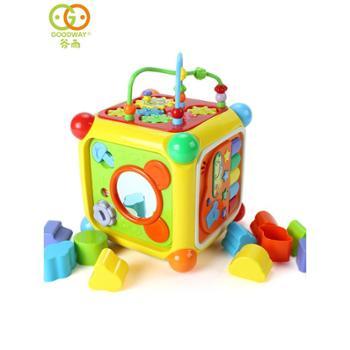 谷雨六面体早教益智宝宝玩具0-1岁婴儿游戏桌多功能玩具台智慧屋