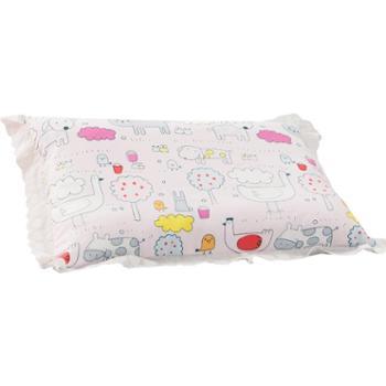盛宇家纺床上用品可爱男童女童枕芯蕾丝决明子矮枕头儿童枕