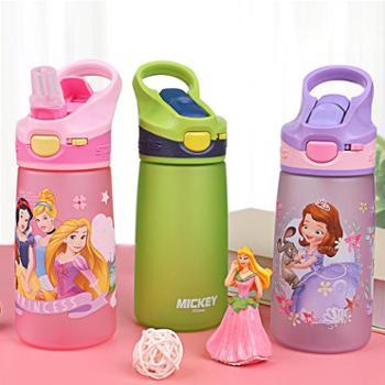 迪士尼儿童水杯小学生夏季塑料吸管杯可爱小孩幼儿园防摔杯子家用