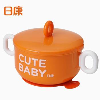 日康 儿童不锈钢保温碗宝宝辅食碗小孩吃饭碗防摔吸盘碗婴幼儿餐具