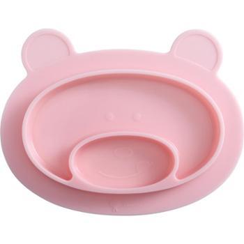 聪明树 宝宝餐盘吸盘碗分格盘卡通硅胶餐垫防摔辅食碗可爱儿童餐具