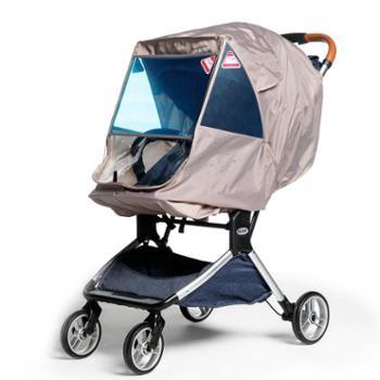 妞妞妈 婴儿手推车雨罩加厚保暖婴儿车防风罩伞车通用型透明雨衣罩