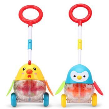 Dr.B/娃娃博士宝宝推推乐玩具学步推着走的儿童单杆手推车带灯光