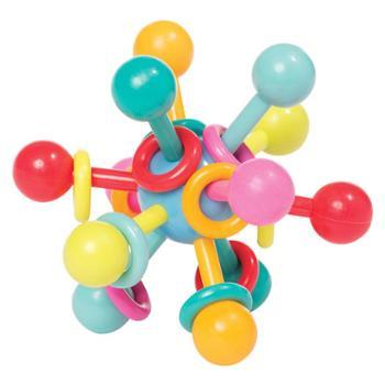 Manhattan Toy 婴儿牙胶球原子结构摇铃口腔牙胶宝宝固齿磨牙