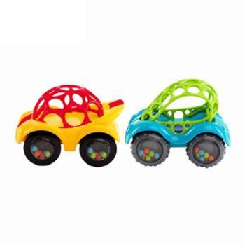 oball 小汽车宝宝响铃抓握软胶玩具婴儿手抓球