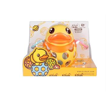UNI-FUN(母婴) 手抓球宝宝抠洞洞玩具婴儿益智软胶摇铃