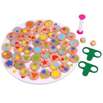 达拉 亲子找图早教游戏 形状配对颜色认知积木智力开发益智玩具
