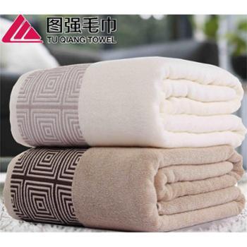 图强围城竹纤维毛巾被双人加大抗菌柔软:规格180*220