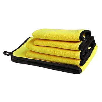 洗车毛巾加厚吸水珊瑚绒擦车巾双色双面高密家车两用清洁洗车巾