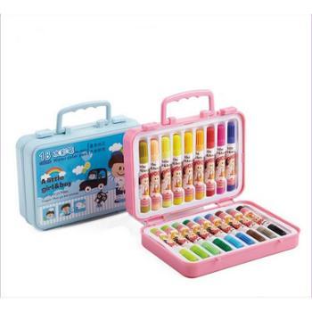 得力文具7052水彩笔彩色儿童绘画笔18色环保无毒安全盒装画画笔