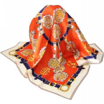 兰之魅·艺术金90方巾 丝巾 围巾