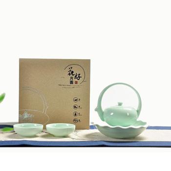 睿和 清莲-粉青套组 茶具套装 茶壶组合