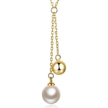仙蒂瑞拉SANDYRILLA个性新潮近圆珍珠项链吊坠附证书XDRL2266