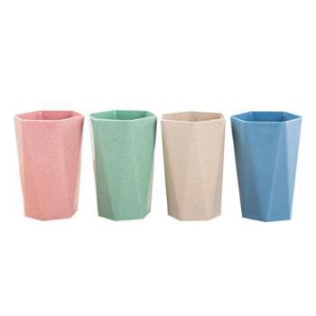 欧式时尚小麦秸秆漱口杯男女通用环保刷牙杯单个