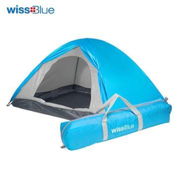 瑞士高端户外品牌维仕蓝/wissBlue双人双层户外帐篷