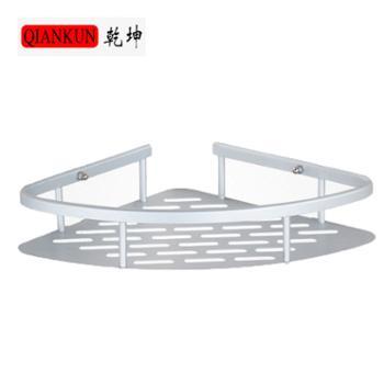 乾坤三角架单层太空铝置物架无痕创意厨房卫生间收纳架