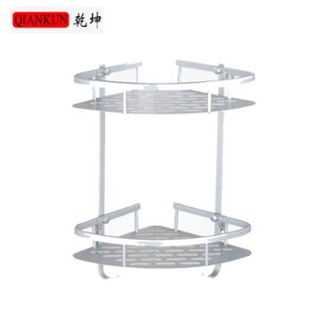 乾坤浴室置物架太空铝双层置物架