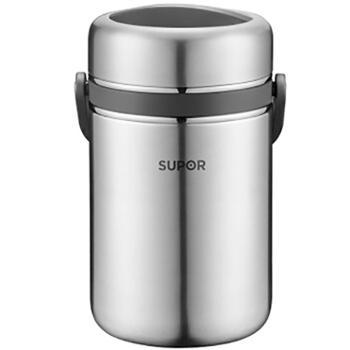 苏泊尔 SUPOR 304不锈钢保温饭盒 1.9L KF19A1