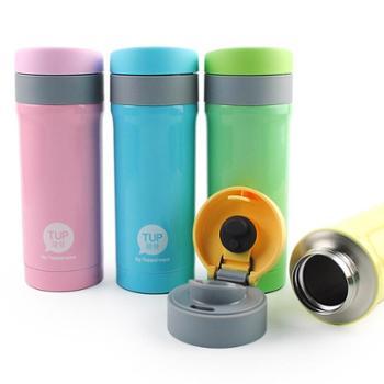 特百惠 都市暖心不锈钢真空保温瓶弹盖带锁便携水杯单个300ML