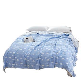 伊伊爱六层纱布毛巾毯四季通用毛巾盖被毯子
