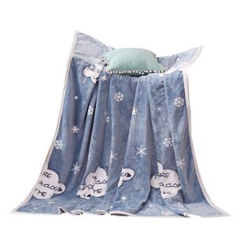伊伊爱云貂绒珊瑚绒毯子空调毯