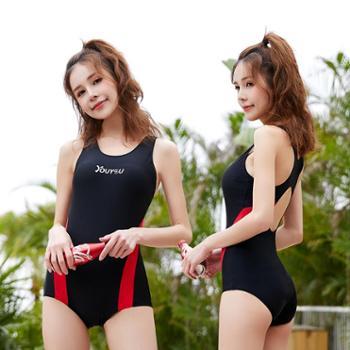 佑游韩国情侣潜水服女水母潜水衣防晒浮潜短袖连体套装冲浪游连体泳衣