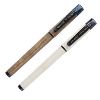 得力S28木本系列中性笔 0.5mm水笔/签字笔 软胶握手 书写顺畅