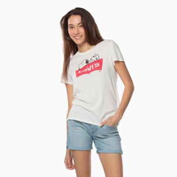 Levi's李维斯女子圆领史努比卡通印花短袖T恤17369-0329