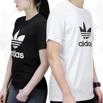 Adidas阿迪达斯短袖男半袖三叶草T恤运动休闲短袖宽松T恤CW0709CW0710S