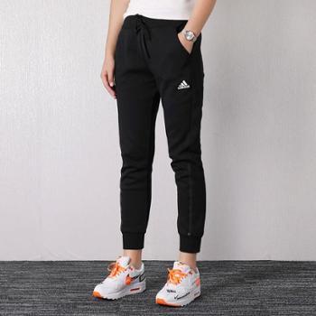 阿迪达斯女裤新款运动裤跑步训练透气收口休闲长裤DX7190SF