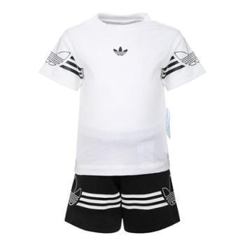 阿迪达斯adidas三叶草婴童短袖运动套装DV2833