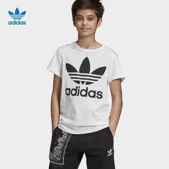 阿迪达斯adidas三叶草TREFOILTEE大童短袖上衣DV2904
