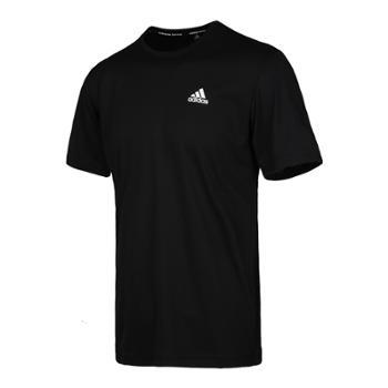 阿迪达斯短袖男夏季新款运动透气体恤梭织半袖速干T恤AZ4076AZ4077