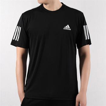 adidas阿迪达斯男子运动透气速干跑步短袖T恤DU0859