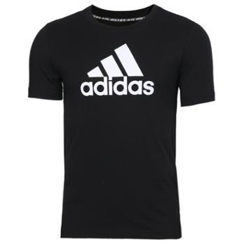 Adidas阿迪达斯童装半袖运动休闲透气短袖体恤DV0816