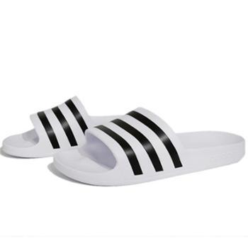 adidas阿迪达斯男女沙滩鞋游泳一字凉拖鞋F35539