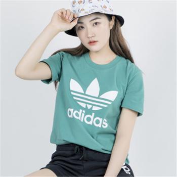 adidas阿迪达斯三叶草女子运动休闲短袖T恤FM3300