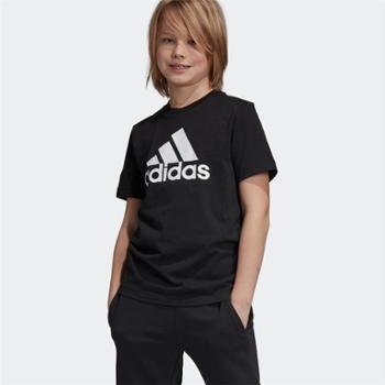 阿迪达斯adidas童装大童运动休闲短袖T恤DV0816