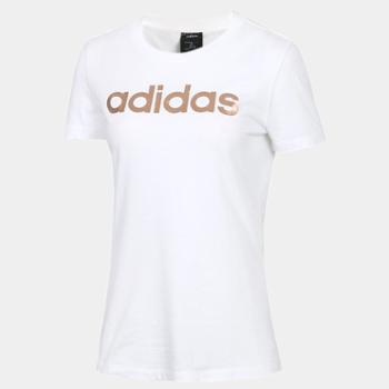 阿迪达斯女子运动短袖T恤EC4745